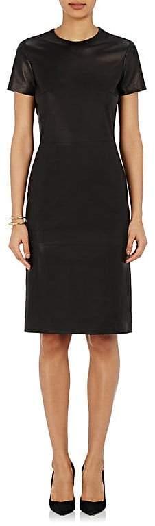 Barneys New York Women's Lambskin Midi-Dress
