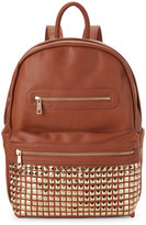 Urban Expressions Cognac Studded Pocket Backpack
