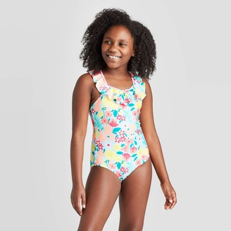 Cat & Jack Girl' Ruffle Floral One Piece wimuit - Cat & JackTM Multi