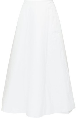 The Row Jaco Poplin A-line Skirt - White