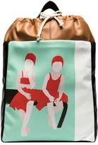 Plan C graphic-print leather tote bag