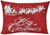 """Victoria Classics Flying Santa 18"""" x 13"""" Decorative Pillow"""