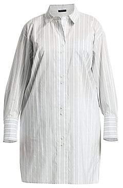 Lafayette 148 New York Lafayette 148 New York, Plus Size Women's Marvin Oversized Boyfriend Shirt