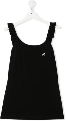 MonnaLisa TEEN logo sleeveless top