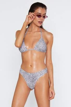 Nasty Gal Womens Snake No Mistake Bikini Bottoms - Beige - 4, Beige