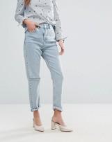 Miss Selfridge Distressed Mom Jeans