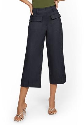 New York & Co. Patch Pocket Wide-Leg Capri Pant