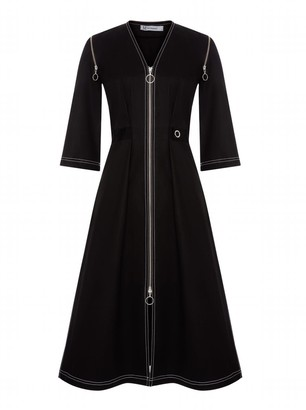 Mirimalist Zipper All-Over Dress