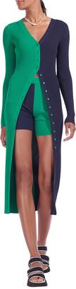 STAUD Shoko Ribbed Colorblock Sweater Dress