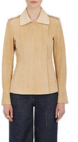 Lanvin Women's Suede Jacket-TAN