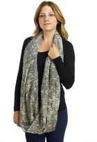 David & Young Women's Snake/Floral Scarf