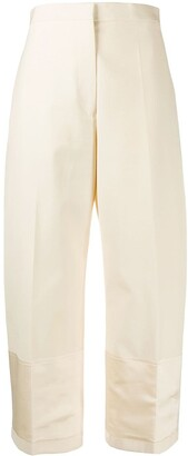 Jil Sander Straight-Leg Cropped Tailored Trousers