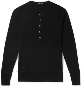 Tom Ford Ribbed Cotton-Jersey Henley T-Shirt