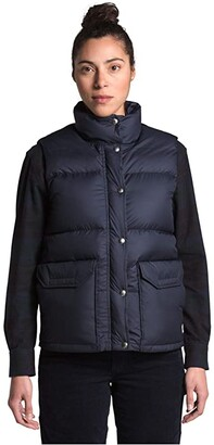 The North Face Sierra Down Vest (Aviator Navy) Women's Clothing