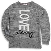 Design History Girl's Love Always Sweater