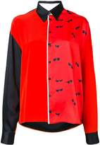 Victoria Victoria Beckham colour block long-sleeve shirt