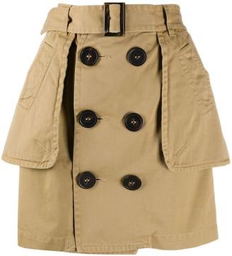 DSQUARED2 Peplum Buttoned Skirt