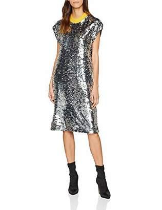 Liebeskind Berlin Women's W1182203 Woven Party Dress, (Silver 9800)