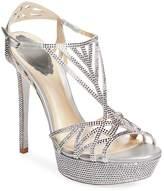 Rene Caovilla Women's Studded Mid Heel Platform Sandal