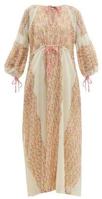 D'Ascoli Meadow Floral-print Cotton Maxi Dress - Womens - Pink