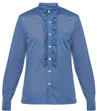 Prada Ruffle-trimmed Shirt - Mens - Blue