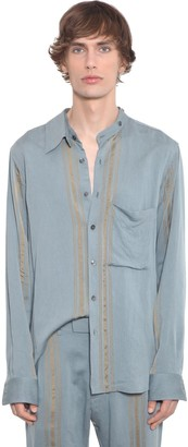 Ann Demeulemeester Viscose Shirt W/ Double Collar