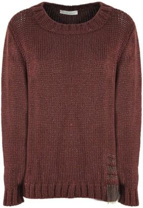 Fabiana Filippi Burgundy Virgin Wool Blend Sweater