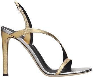 Giuseppe Zanotti Sandals In Gold Leather