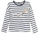 Catimini Girl's TS ML Mariniere T-Shirt,(Manufacturer Size: 8A)