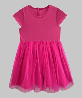 A.T.U.N. Girls' Casual Dresses Fuschia - Fuschia Sally Tutu Dress - Infant, Toddler & Girls