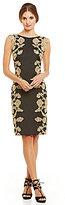 Tadashi Shoji Lace-Paneled Sheath Dress