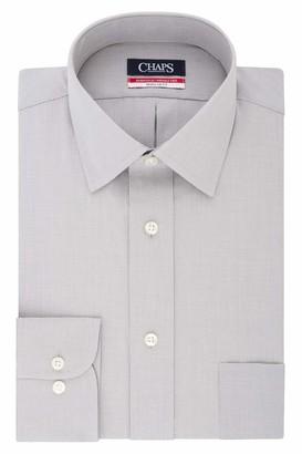 Chaps Men's Dress Shirts Regular Fit Check Spread Collar