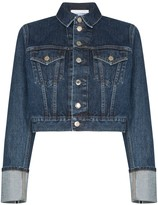 Helmut Lang Fem Little Trucker cropped denim jacket