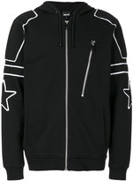 Just Cavalli contrast trim zip hoodie