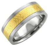 Hellmuth Men's Stainless Steel Band Ring