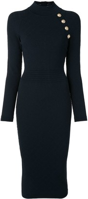 Balmain Decorative Buttons Fitted Dress