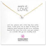 Dogeared Pearls of Love Freshwater Pearl Delicate Gold Dipped Necklace