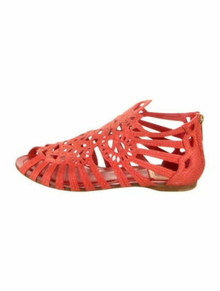 Christian Dior Suede Gladiator Sandals Red