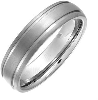 Theia Titanium Court Matt Grooved 6mm Ring - Size L