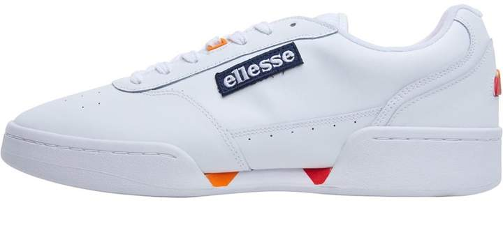 aad96778b1 Mens Piacentino Leather Trainers White
