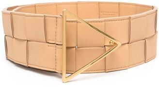 Bottega Veneta maxi Intrecciato leather belt