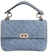 Valentino Medium Spike Quilted Suede Shoulder Bag