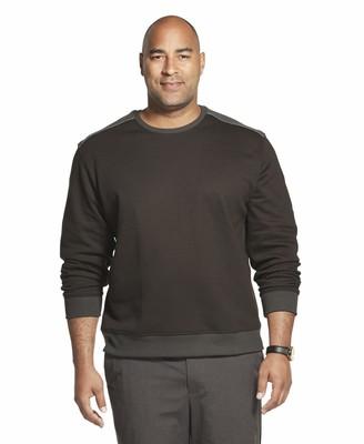 Van Heusen Men's Big & Tall Big and Tall Long Sleeve Flex Fleece Blocked Crewneck Pullover