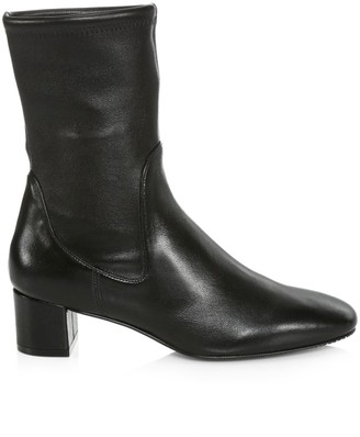 Stuart Weitzman Ernestine Leather Sock Boots