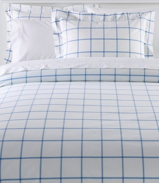 L.L. Bean 280-Thread-Count Pima Cotton Percale Comforter Cover Collection, Windowpane
