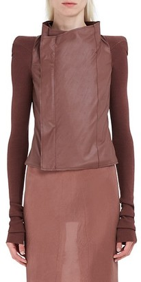 Rick Owens Cobra Leather & Wool Biker Jacket