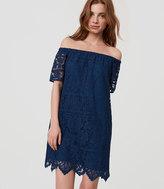 LOFT Tall Lace Off The Shoulder Shift Dress