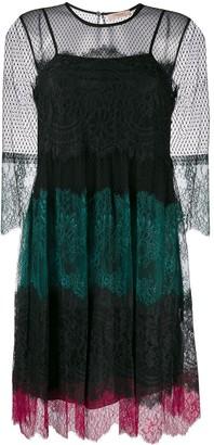 Twin-Set lace panel dress