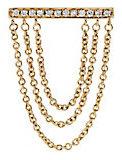 Sydney Evan Tripe Chain Diamond Bar Stud Earrings