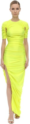 Thierry Mugler Long Light Stretch Jersey Dress